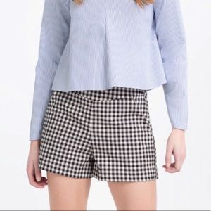 Zara: Trafaluc Collection Gingham Hi-Rise Shorts